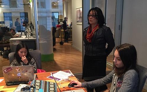 AEC Hackathon Girls with NYC CTO